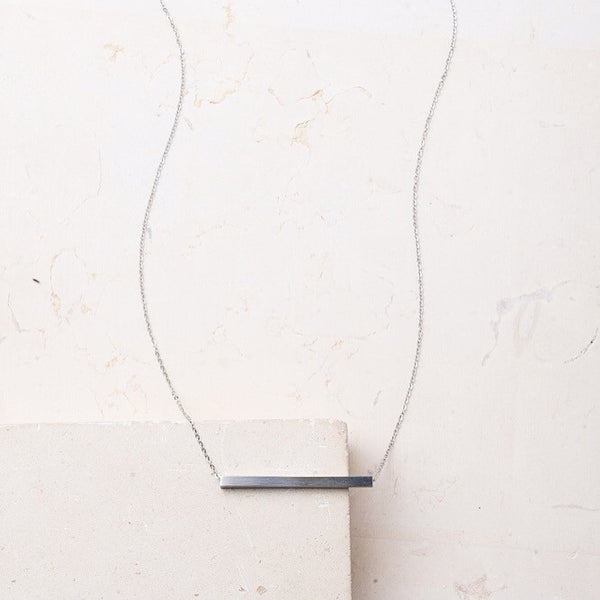 Steel Bar Necklace