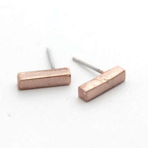 """Give Back"" Rose Gold Studs"