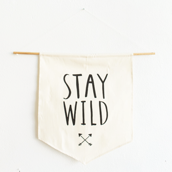 Canvas Wall Hanging - Stay Wild