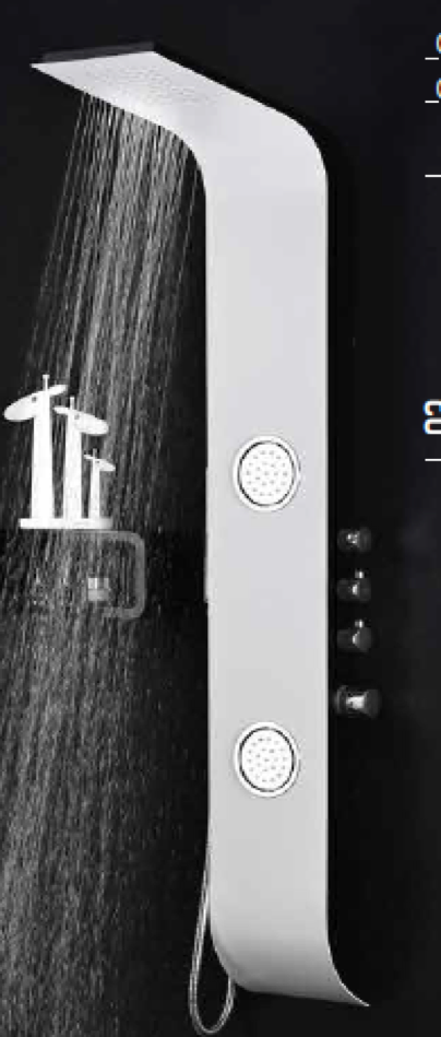 Shower Panel en stainless steel