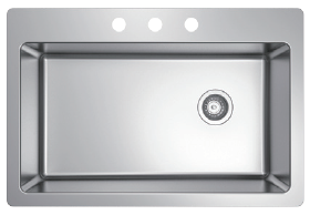 Fregadero Sencillo Top Mount Stainless Steel