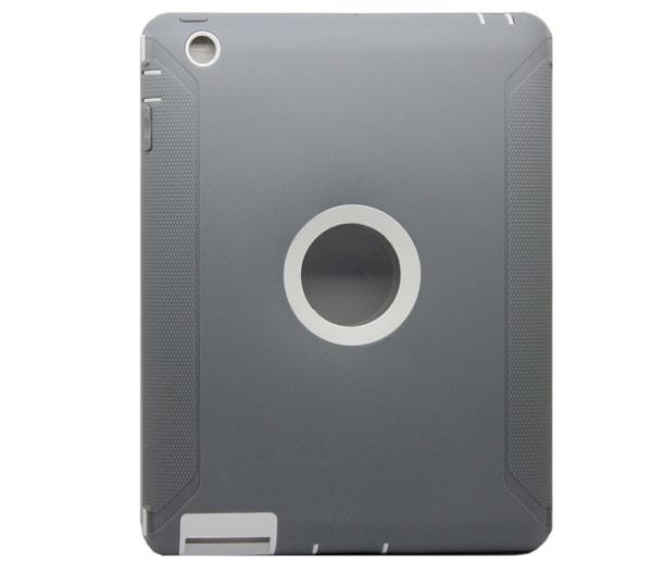 Full Protection Case for IPad 2, 3 & 4 - White/Gray