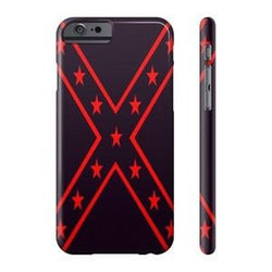 confederate flag phone case red