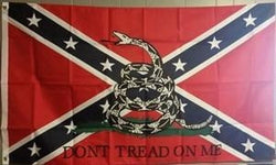 """Don't tread On Me"" Confederate Truck Flag"