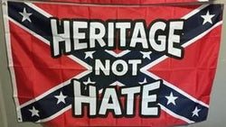 """Heritage Not Hate"" Confederate truck Flag"