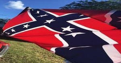 """A Confederate Truck flag"""