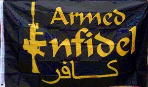 Armed Infidel Flag- 3'x5'