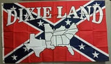 """Dixie Land' Confederate truck Flag"