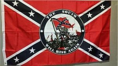 """the south will rise again"" Confederate truck Flag"