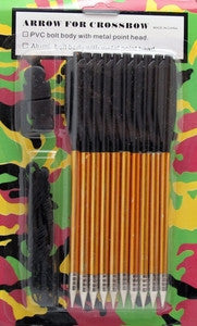 Aluminum Arrows (10) & String Combo (1) Pack 80lb