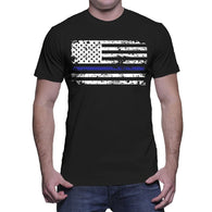 Blue Line American Flag T-shirt