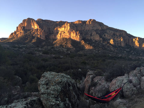 Mountain ranges hammock camping sunrise