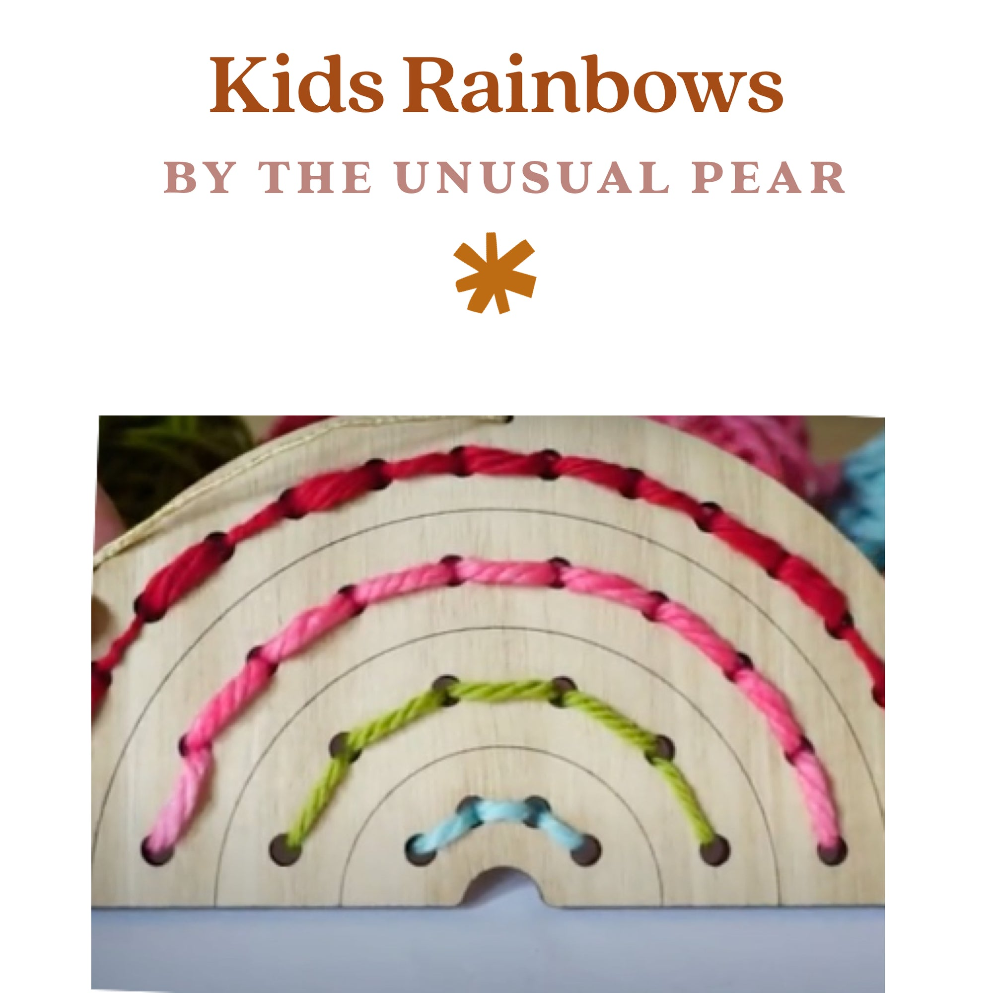 🌈Kids Rainbow Weaving