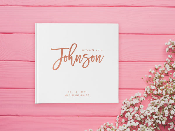 Rose Gold Wedding Guest Books