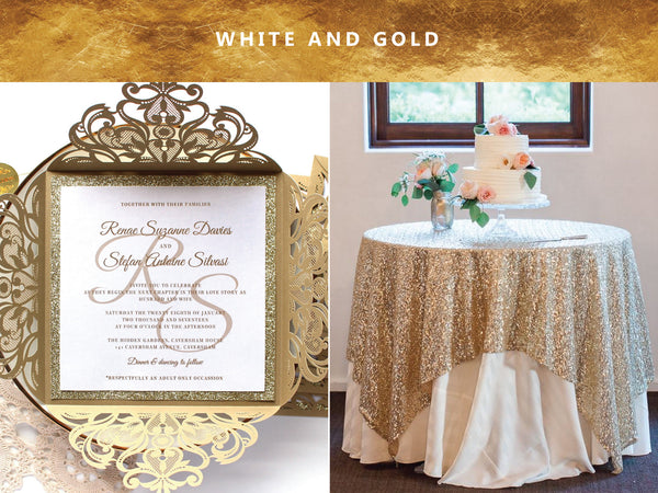 Gold and White Wedding Inspiration