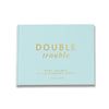 Twin Double Trouble | Pastel Blue & Gold Baby Shower Guest Book