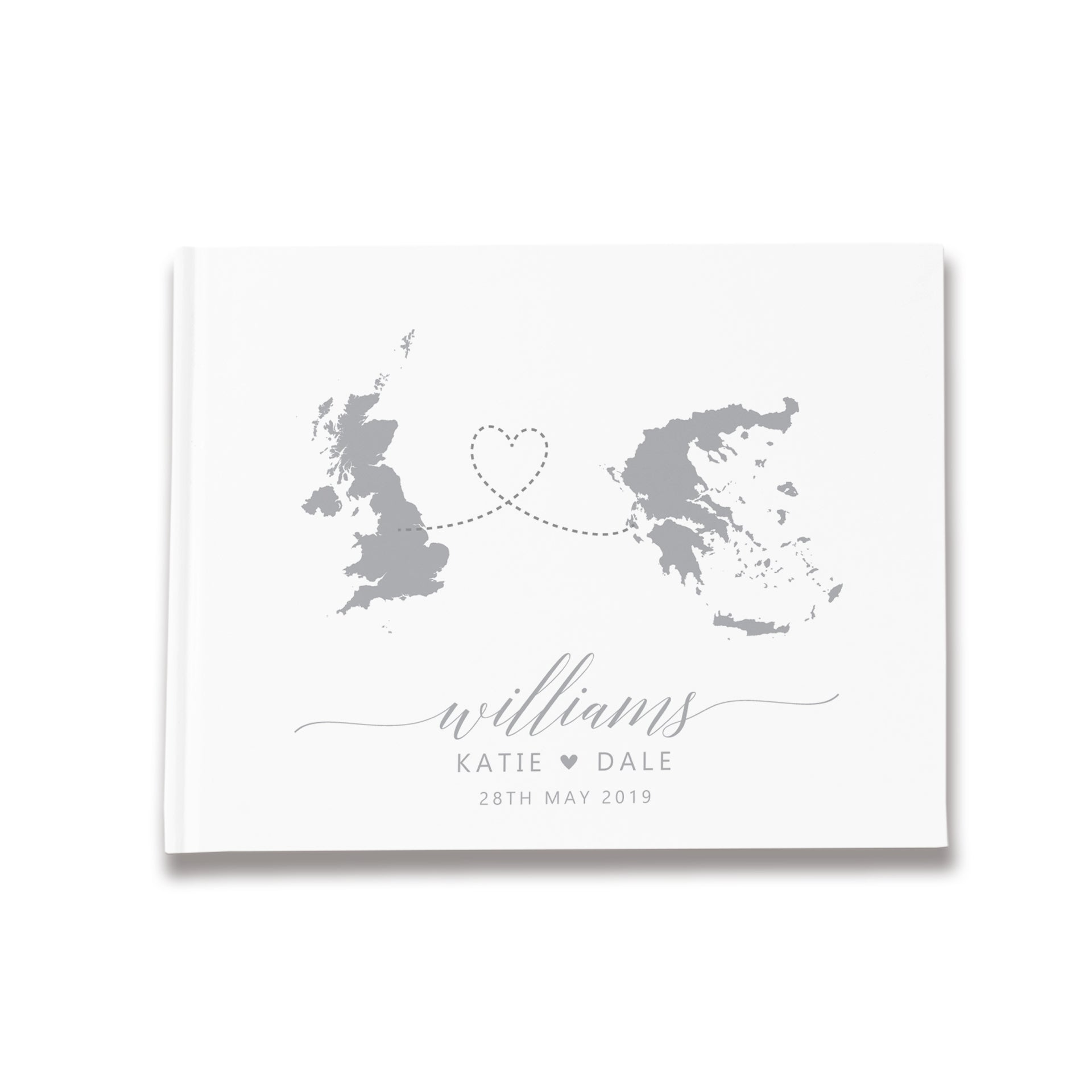 Destinations | White & Grey Wedding Guest Book