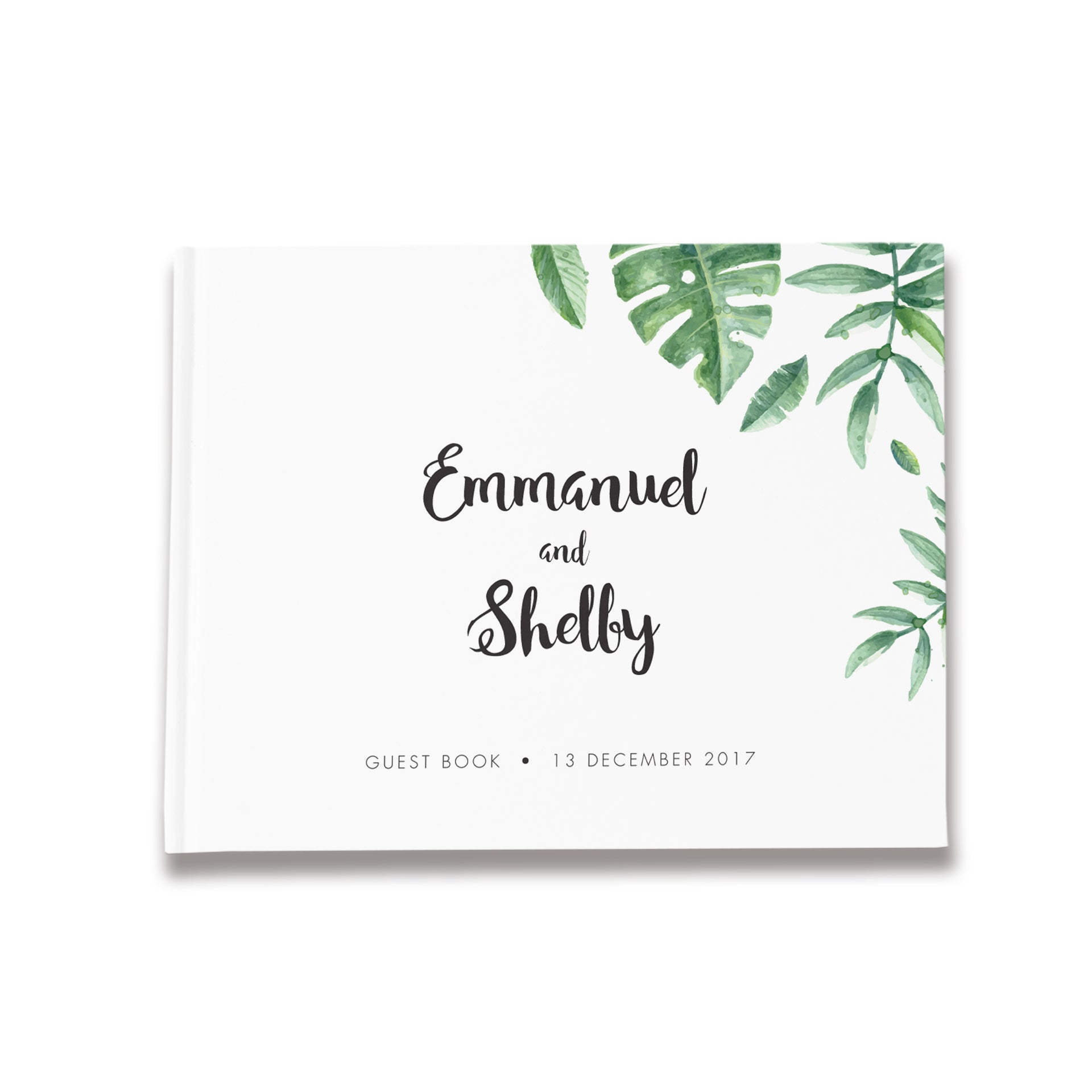 Tropical Leaves | Wedding Guest Book