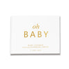 Classic Oh Baby | White & Gold Baby Shower Guest Book