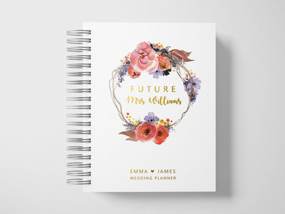 Fall in Love | Gold Foil Wedding Planner