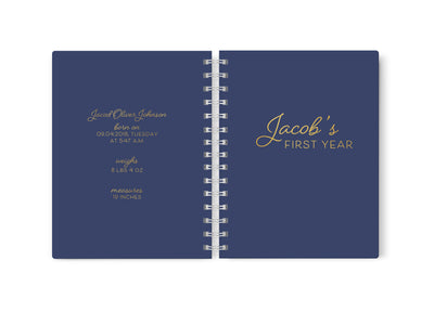 Baby's First Year | Navy Baby Scrapbook