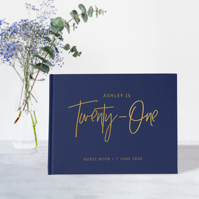 21st Birthday | Navy & Gold