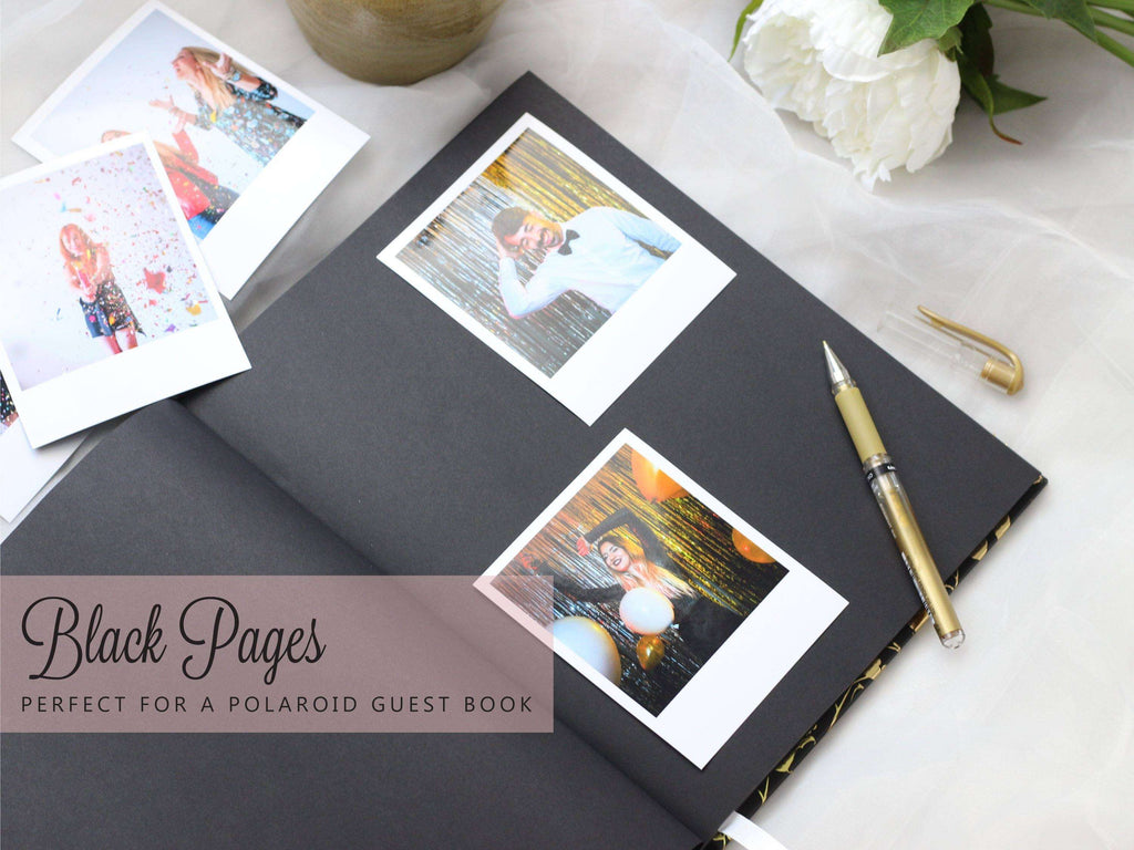 20th Birthday | Navy & Gold Guest Book