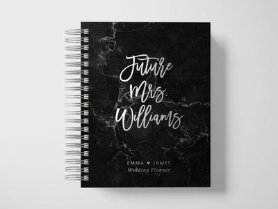 Bold Future Mrs | Black Marble Wedding Planner