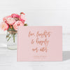 Love and Laughter | Blush & Rose Gold Wedding Guest Book