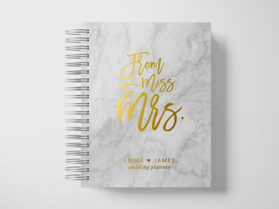 Miss to Mrs Wedding Planner | Marble