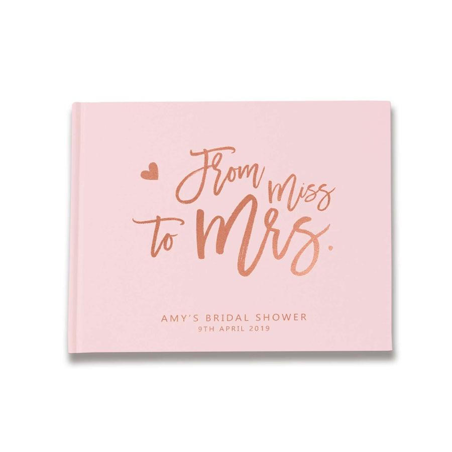 miss to mrs bridal shower guest book