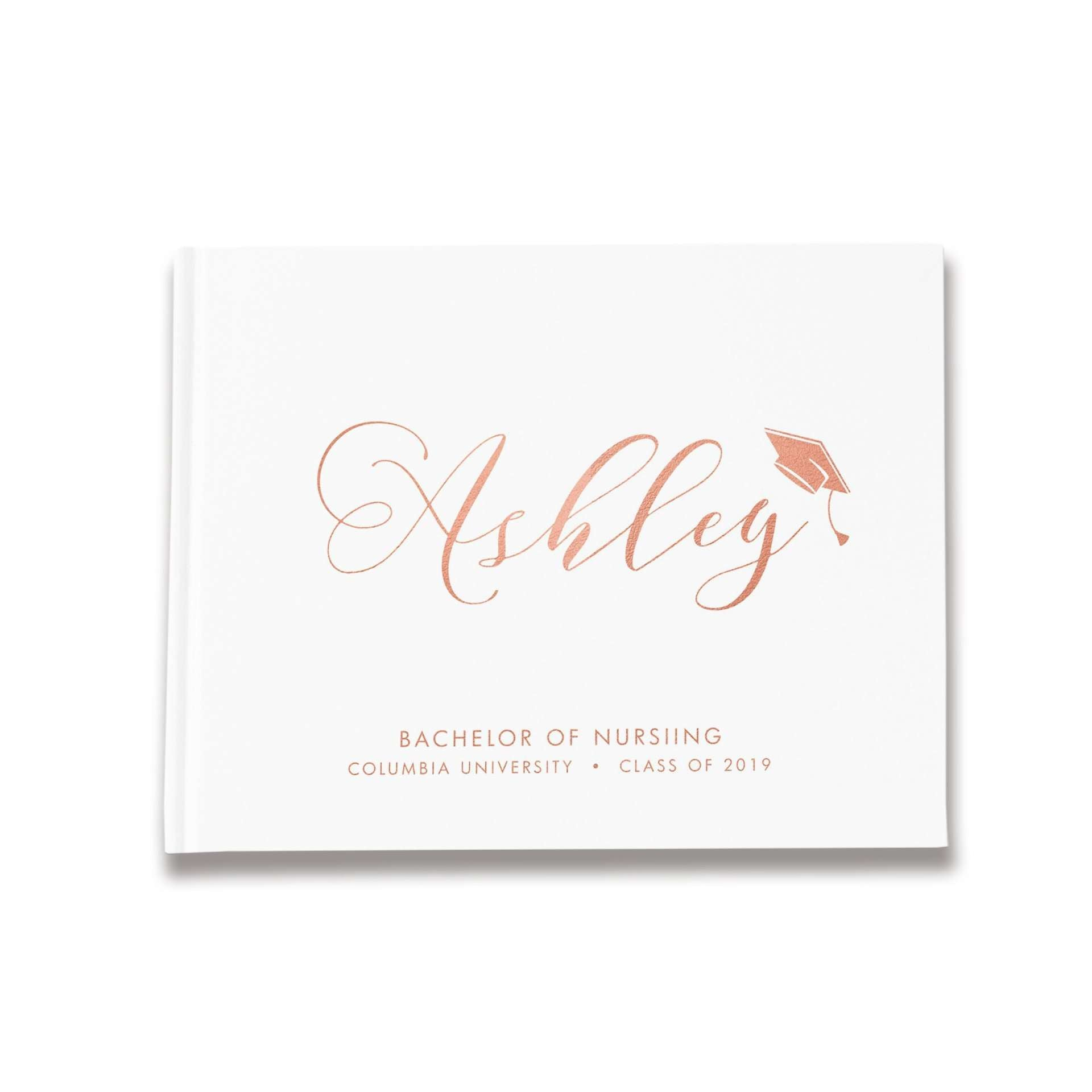 Graduation Party Guest Book | Rose Gold
