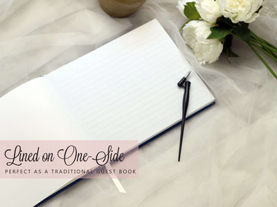 Adele Heart | Black & Rose Gold Wedding Guest Book