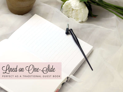 Story Book | Blush and Gold Wedding Guest Book