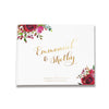 Red Roses | Gold Foil Wedding Guest Book