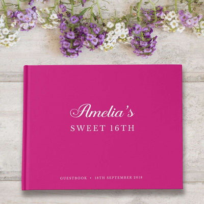 Sweet 16 | Fuschia Birthday Guest Book