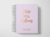 Bold Future Mrs | Purple & Rose Gold Foil Wedding Planner