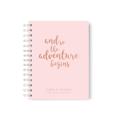 Adventure Begins | Travel Journal Scrapbook