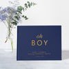 Classic Oh Boy | Navy Blue & Gold Baby Shower Guest Book