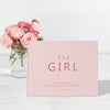 It's a Girl | Blush & Rose Gold Baby Shower Guest Book