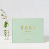 Classic Baby Shower | Mint & Gold Baby Shower Guest Book