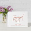 Lovestruck | White and Rose Gold Engagement Guest Book