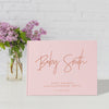 Modern Take | Blush & Rose Gold Baby Shower Guest Book