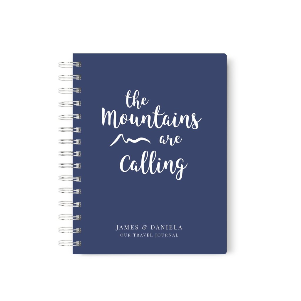 Mountains are Calling | Personalized Travel Journal