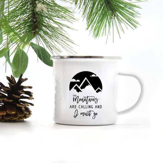 The Mountains are Calling Camp Mug