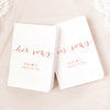 Rose Gold and White Vow Books