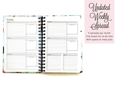 Bold Name Planner Book | Navy and Rose Gold