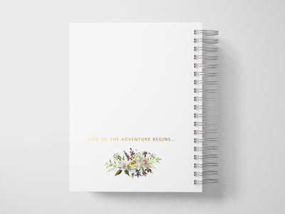 White Roses | Gold Foil Wedding Planner