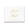 Tia | Gold Foil Wedding Guest Book