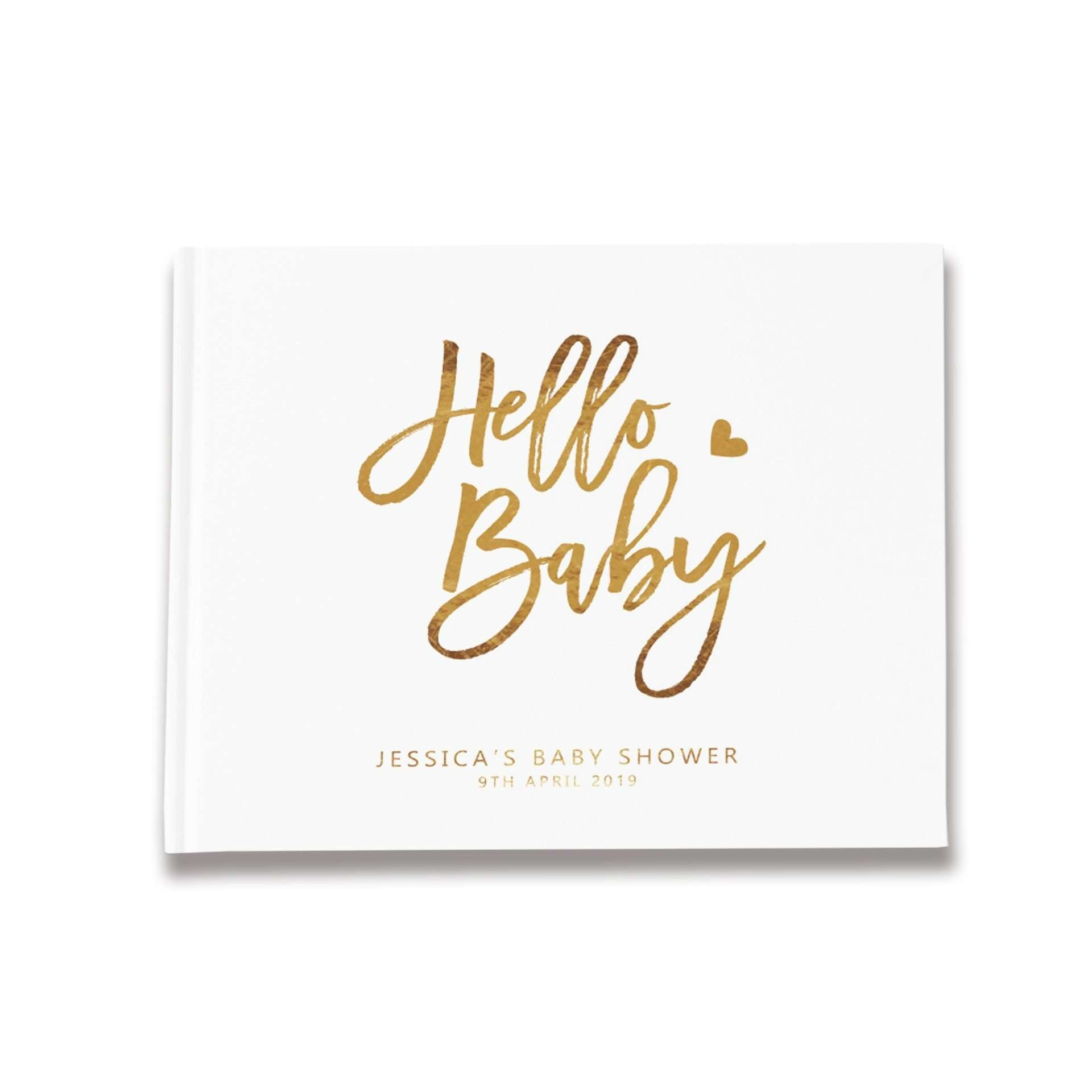 Hello Baby | Gold Foil Baby Shower Guest Book